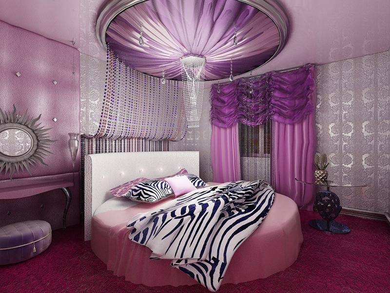 Спальня в гламурном стиле - фото